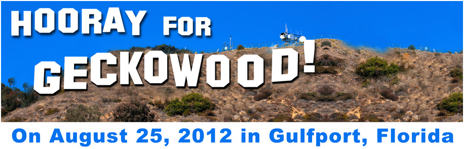 """Hooray for Geckowood"" Gecko Ball will be held on Saturday, August 25th, 2012"